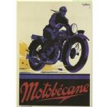 Large Motobecane Motor Bike Vintage French Metal Steel Sign Plaque